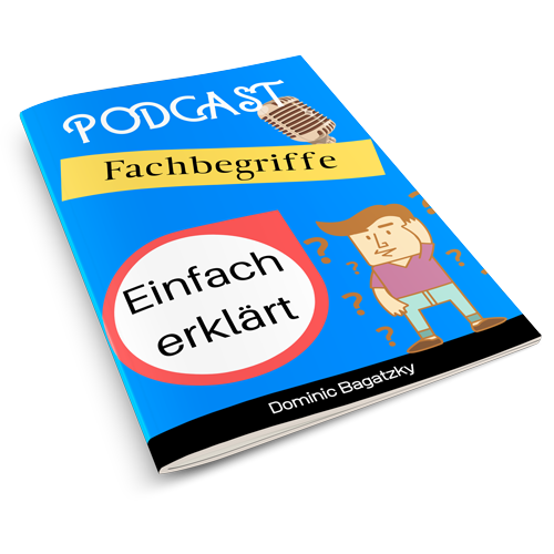 Podcast Fachbegriffe 3D Mockup Cover Bild