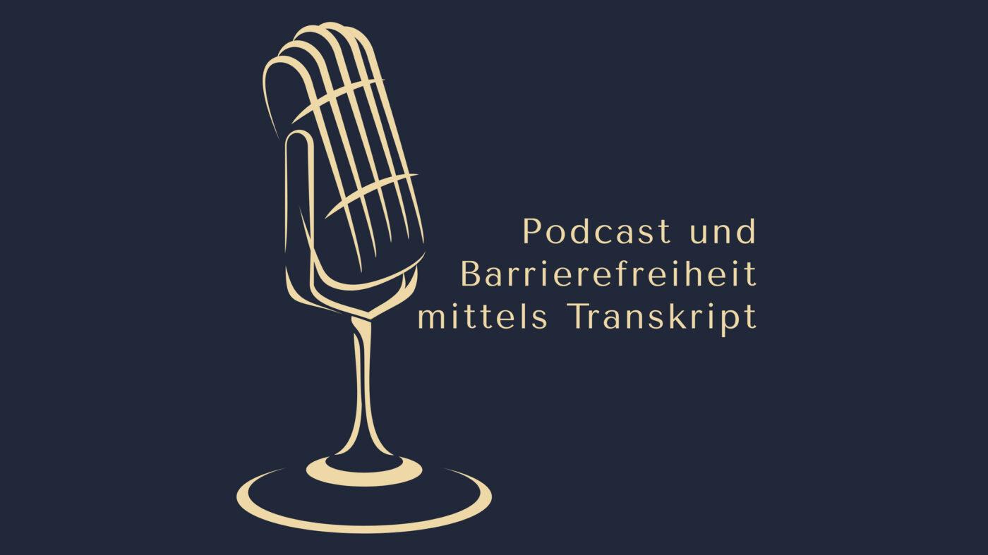 Podcast und Barrierefreiheit mittels Transkript Episodencover